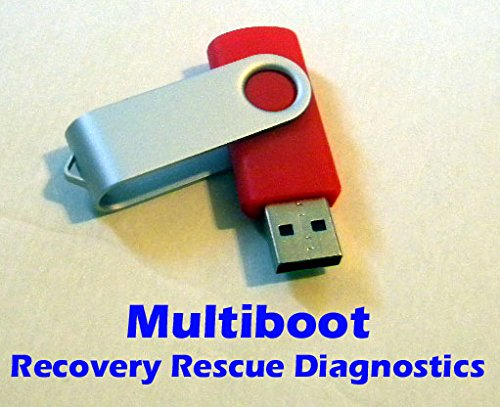 Diagnostics Recovery 8GB Multiboot USB Thumb Drive - Hirens and much more!