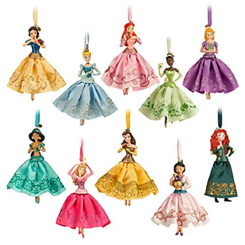 Disney - 2014 Princess Sketchbook Ornament Set of 10 - New