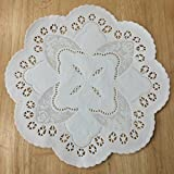 PEPPERLONELY 10 Inch White French Lace Paper Doilies 50 Count