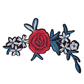 Rose Flower DIY Sewing/&Iron Badge Decoration On Patch Accessories