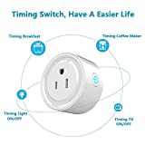 LONGSIPU WiFi Smart Plug Outlet Compatible with