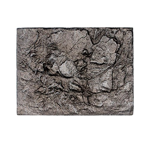 Coohole 3D Foam Rock Reptile Stone Aquarium Background Backdrop Fish Tank Board Home Decor (E)
