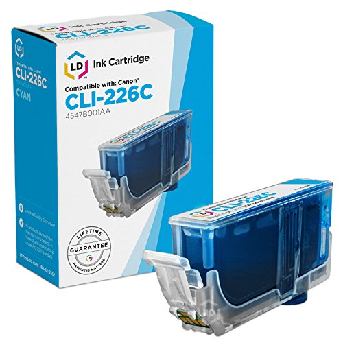 LD Compatible Replacement for Canon CLI-226C Cyan Ink Cartridge for Canon PIXMA iP4820 ,iP4920, iX6520, MG5120, MG5220, MG5320, MG6120, MG6220, MG8120, MG8120B, MG8220, MX712, MX882, & MX893
