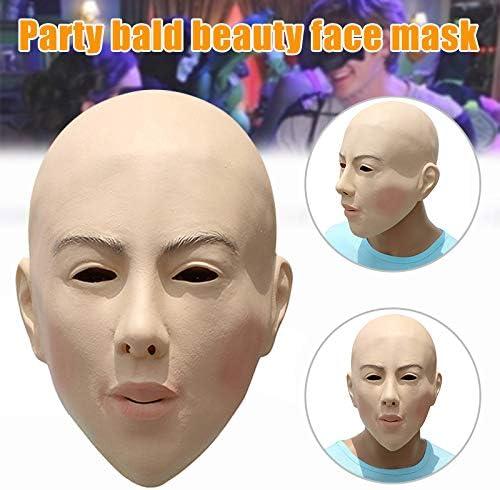 Keepbest Máscara de Belleza Calva Halloween, Disfraz, Cosplay ...