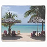 Romantic Seats Extra Large Gaming Mouse Mat Non-Slip Rubber Base Sticthed Edge Mousepad for Computer Desk Stationery Accessories