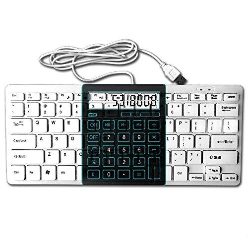 5318008Calculadora Mini teclado alámbrico Thin Light 78teclas USB para PC computadora Portátil