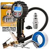 Digital tire inflator with pressure gauge 200 PSI air gauge chuck and Compressor Accessories color tire valve caps. Portable tire inflator harbor freight. The Best portable air pump for car tires