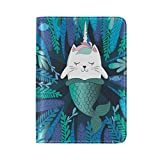 ALAZA Mermaid Cat Unicorn Passport Covers Holder Case Protector Travel