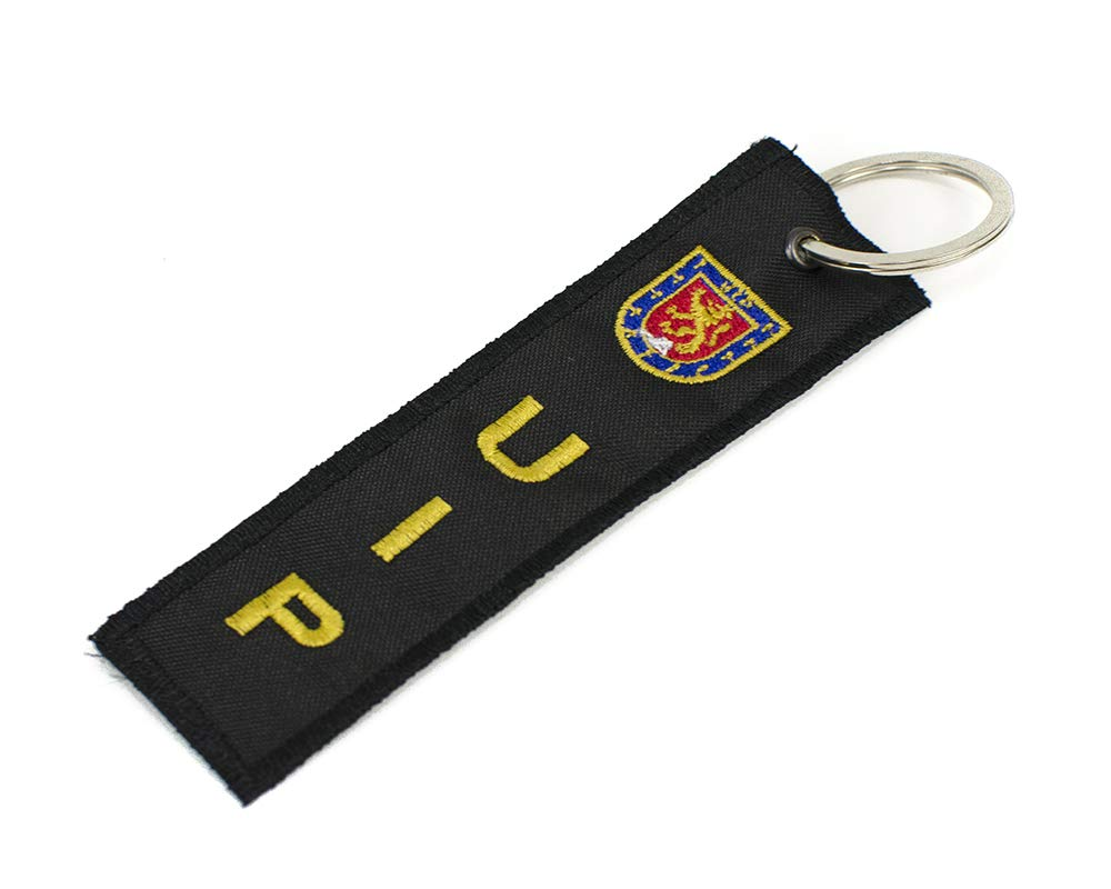 Llavero Policía UIP Bordado
