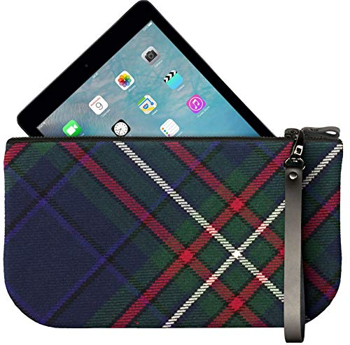 Scottish Tartan Mini Fit Leather Small to Enough Large Bag iPad Heritage Clutch THX4xqtw
