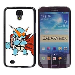 Caucho caso de Shell duro de la cubierta de accesorios de protección BY RAYDREAMMM - Samsung Galaxy Mega 6.3 - Tortuga de Poke Monster