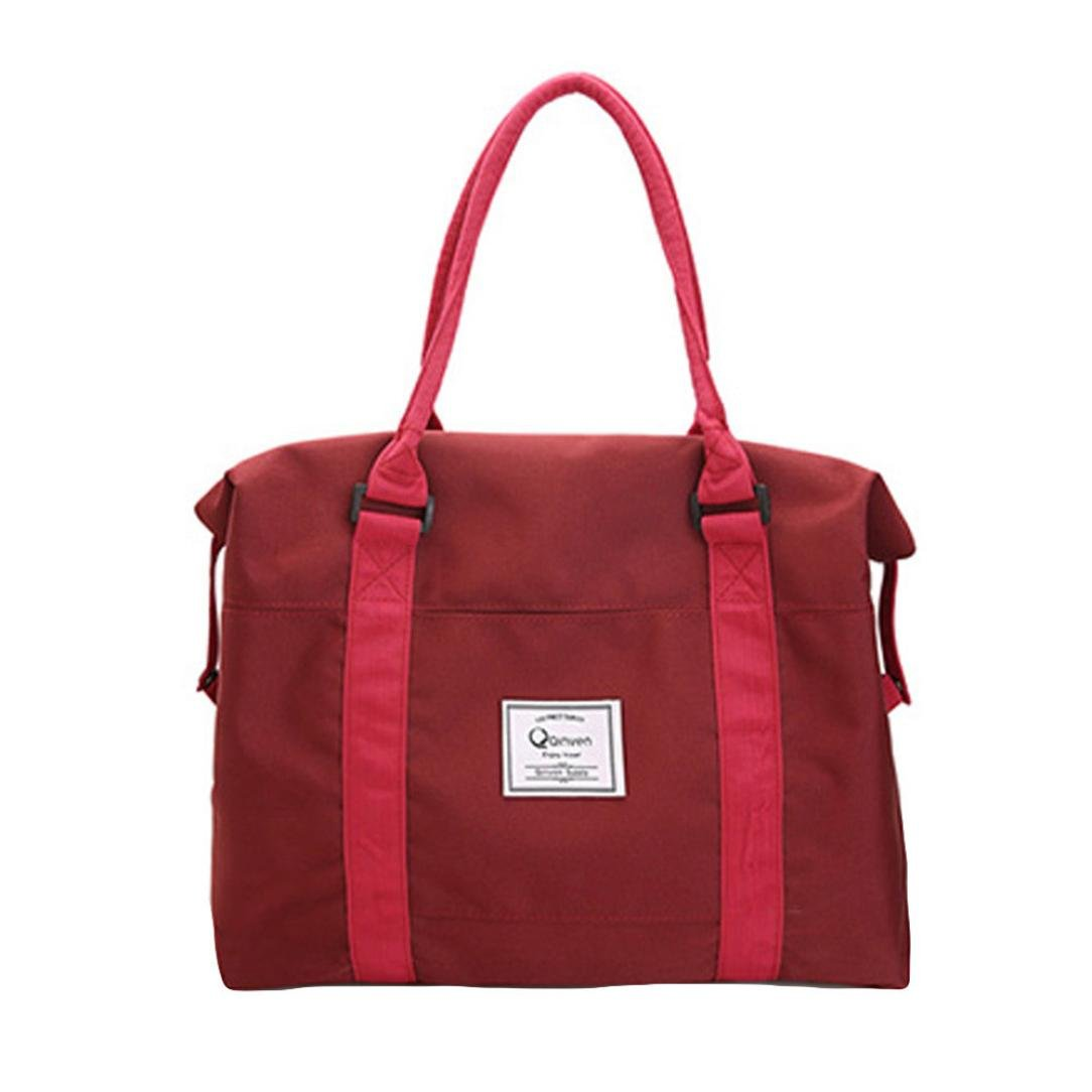 Cinhent Bag Sports Bag Newly Women Messenger Bags, 16.1 × 5.1 × 16.1'', Oxford Casual Big Size Tote, Washable Carry Large Capacity Girls Shoulder Bag (Wine)