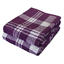 Catherine Lansfield Kelso Jacquard Bath Towel - Red by Catherine Lansfield