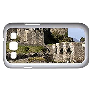Scotland - Eilean Donan Castle (Medieval Series) Watercolor style - Case Cover For Samsung Galaxy S3 i9300 (White)