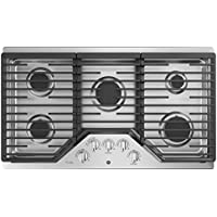 GE Profile PGP7036SLSS 36 Inch Natural Gas Sealed Burner Style Cooktop with 5 Burners, ADA Compliant, Electronic Ignition in Stainless Steel