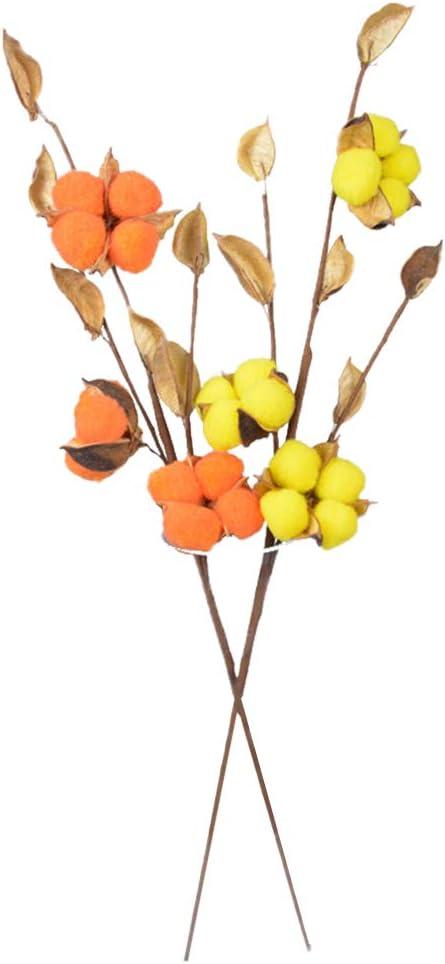 LIOOBO 2 Piezas de Flores secas de algodón Ramas Florales Ramos de ...