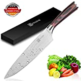 #7: Chef Knife, PAUDIN Pro Kitchen 8 Inch Chef's Knife, Kitchen Knife German High Carbon Stainless Steel with Ergonomic Handle, Ultra Sharp, Best Choice for Home Kitchen and Restaurant