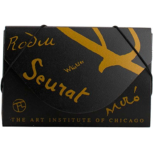 JAM Paper Business Card Cases - 3 1/2'' x 2 1/4''x 1/4'' - Black with Gold Art Institute of Chicago Designs - 100 cases per pack by JAM Paper