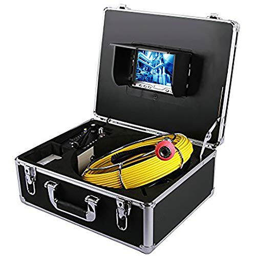 EletecPro Pipe Inspection Camera,20M/66ft Drain Sewer Industrial Endoscope 7