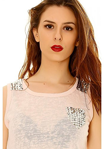 dmarkevous - Camiseta sin mangas - para mujer Rosa