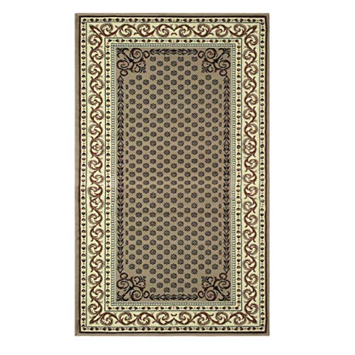 Colored Multi Beautiful (Superior Longfield Collection 4' x 6' Area Rug, Attractive Rug with Jute Backing, Durable and Beautiful Woven Structure, Oriental Rug Design with Detailed Border - Multi-Colored)