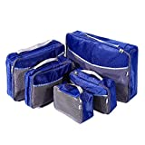 5 Set Travel Luggage Organizer-Double Sided Carryon Lightweight Packing Cubes