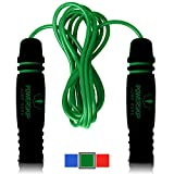 Epitomie PowerSkip Jump Rope with Memory Foam Handles and Weighted Speed Cable - Kryptonite Green