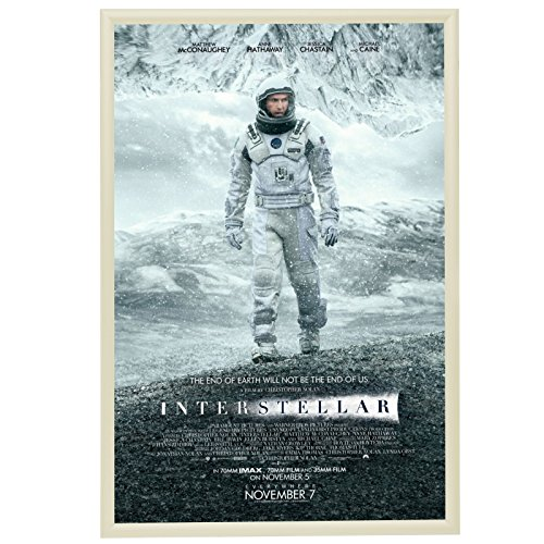 "SnapeZo Poster Frame 24x36 Inch, Cream 1"" Aluminum Profile,"