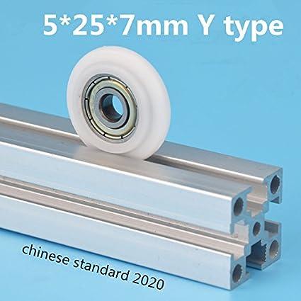AYUNYUN 5pcs 5257 mm Tipo Y Convex Nylon Polea plástico ...