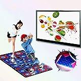 QXMEI Projection Sense Massage Dance Mat Double Thick Computer TV Dual-use Game Blanket
