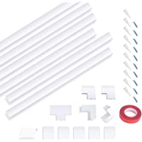 Cable Concealer Cable Management Cord Cover Kit - Self-Adhesive Hide TV Cables in Wall | Tidy Cables Wire Cover for Home Office White (Combination 1)