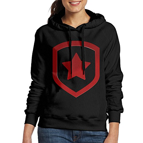 Mirror's Edge Cosplay Costume (FUOCGH Women's Pullover Gambit Logo Hooded Sweatshirt Black M)