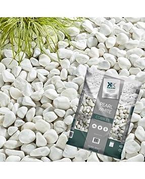 Kelkay Pearl White Cobbles Large Pack Large White Decorative Stones **By  Online Garden Centre