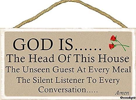Cartel de Madera Vintage con Texto en inglés «God is The ...