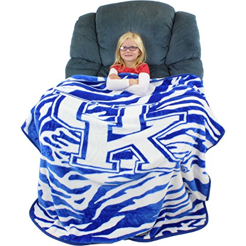 "College Covers Raschel Throw Blanket, 50"" x 60"", Kentucky Wildcats"