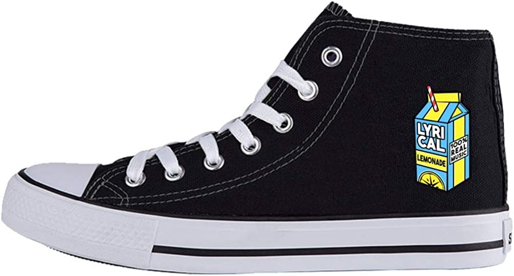 Julongcul Unisex Lyrical Music Miik Box High Top Canvas Sports Sneaker Casual Trainers Shoes 41 Black