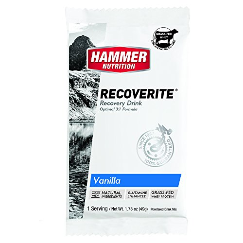 Hammer Nutrition Recoverite Recovery Fuel, Flavor Vanilla (6 Count of Single Packets)