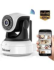 Sricam 1080P Wlan IP Kamera Indoor Überwachungskamera Innen Handy, Hund/ Baby Monitor mit P2P Infrarot Nachtsicht - Bewegungserkennung - Zwei Wege Audio, SP017