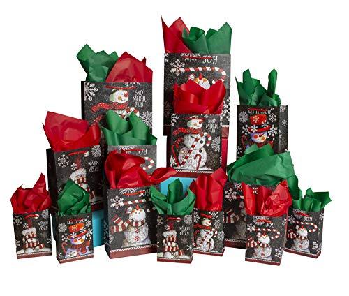 42-Pc. Chalkboard Snowman Gift Bag Sets