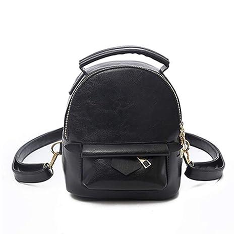 c0d5d093b5ca Amazon.com: College Wind Women Mini Backpack PU Leather Small ...