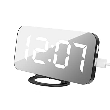 AimdonR Alarm Clock, Reloj Digital con gran 6,5 Easy de Read pantalla LED
