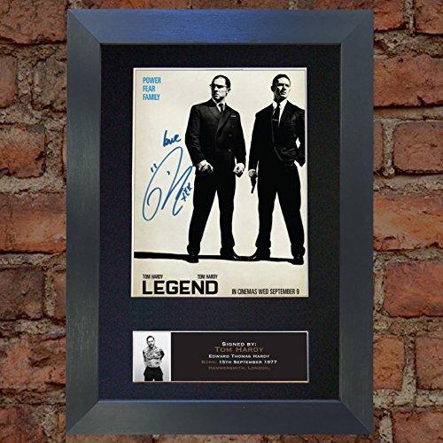 Legend Tom Hardy Signed Autograph Mounted Photo Repro A4 Pri