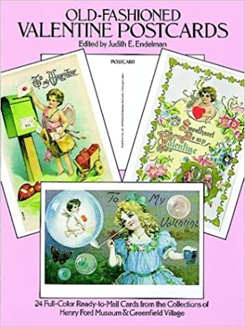 Old Fashioned Valentine Postcards 24 Full Color Ready To Mail Cards