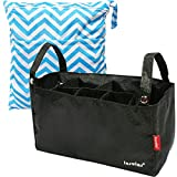 KF Baby Diaper Bag Insert Stroller Organizer, Black + Wet Dry Bag Value Combo
