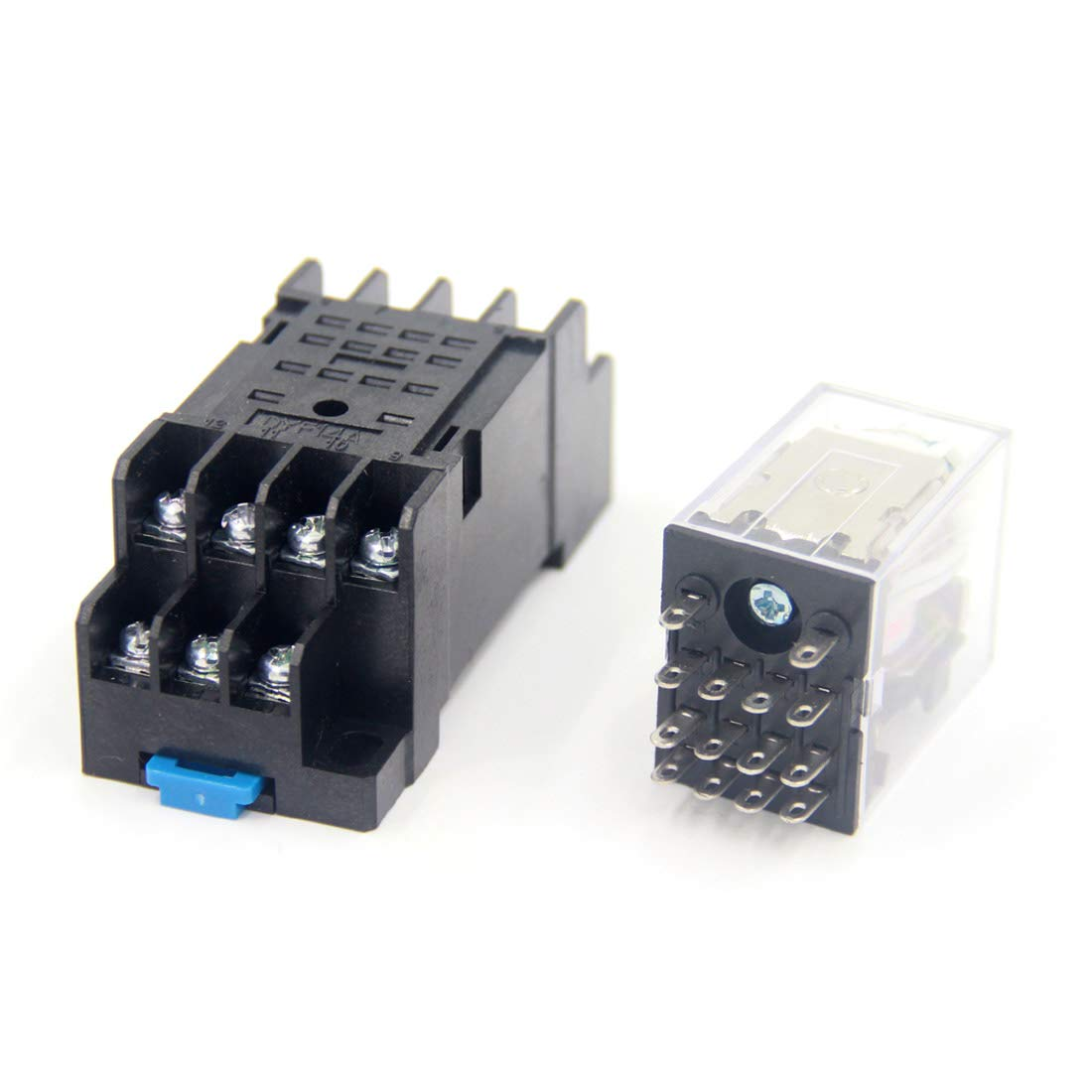 Woljay HH54P DC 6V Coil 4PDT 14 Terminals Indicator Light Electromagnetic Power Relay w Base