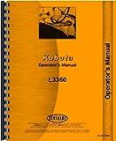 Kubota L3350 Tractor Operators Manual