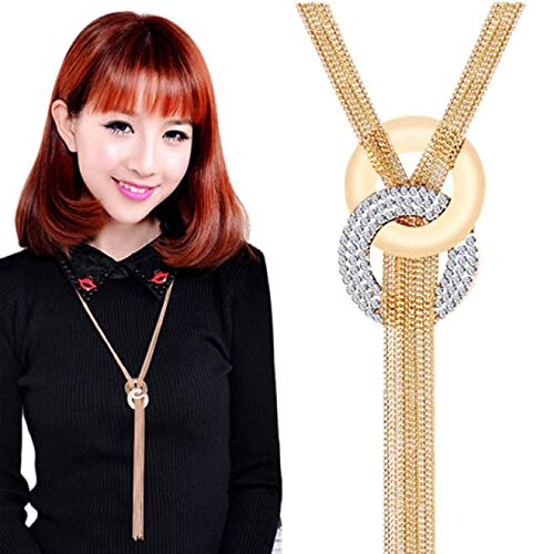 Gbell Clearance! Fashion Women Tassel Sweater Necklace- Long Neck Chain Choker Chunky Pendant Jewelry for Teen Girls Ladies Party Ball Date