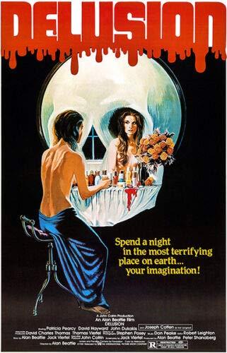 (DELUSION (1981) Original Authentic Movie Poster - 27x41 One Sheet - Single-Sided - FOLDED - Patricia Pearcy - David Hayward - John Dukakis )
