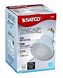 Satco S7247 15-Watt Medium Base R30 Reflector, 2700K, 120V, Equivalent to 65-Watt Incandescent Lamp