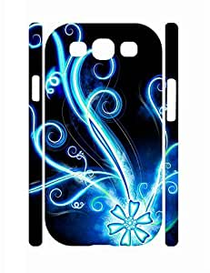 Personalized Sweet Neon Flower Eco TPU Samsung Galaxy S3 I9300 Phone Back Case